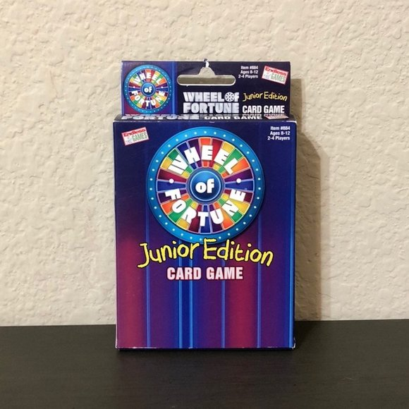 Wheel Of Fortune Jr. Edition Card Game